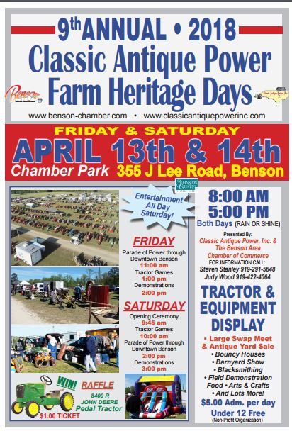 NC - Annual Classic Antique Power Tractor Show @ Chamber Park